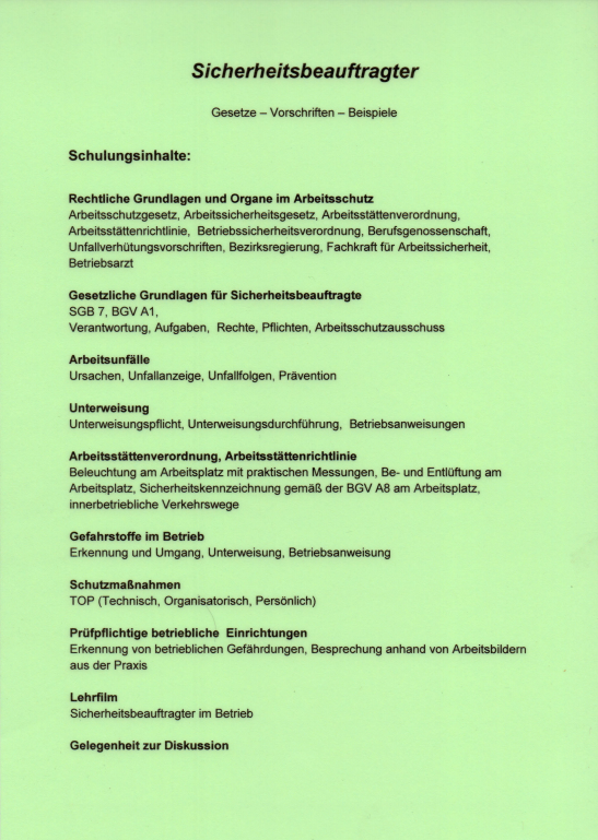 Sicherheitsbeauftragter - Schmiede und Schlosserei Wegmann aus Heiligenhaus